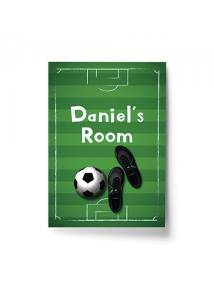 Personalised Football Theme Print For Boys Bedroom Son Gift