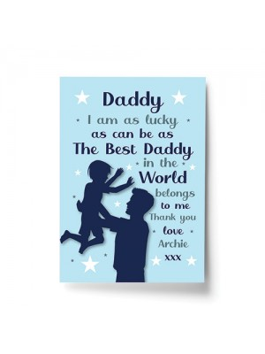 Daddy Gift For Birthday Christmas Personalised Print