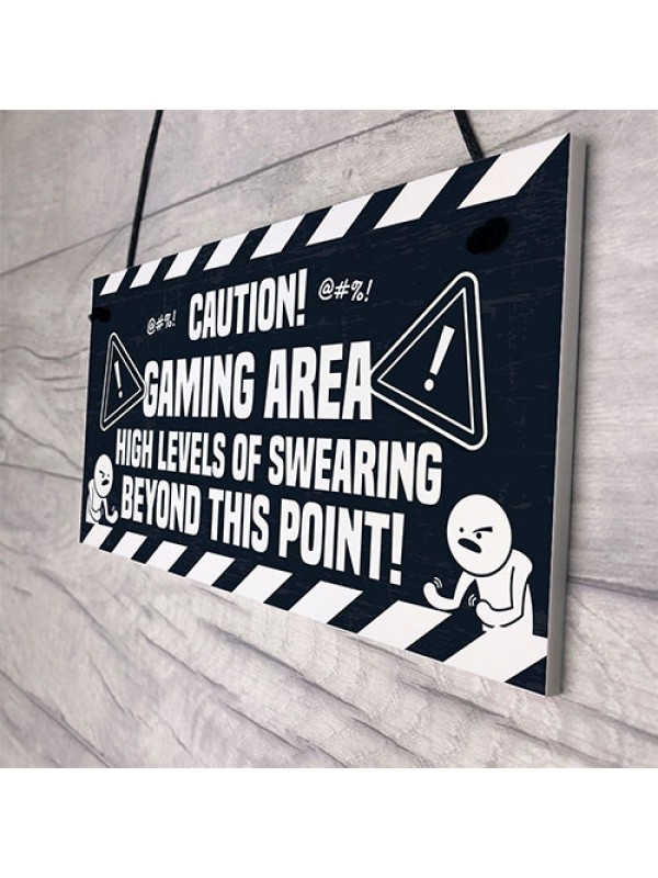 Funny Rude Gaming Sign Gamer Gift For Son Brother Xmas Birthday