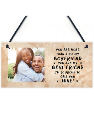 Personalised Photo Gift For Boyfriend Sign Christmas Birthday