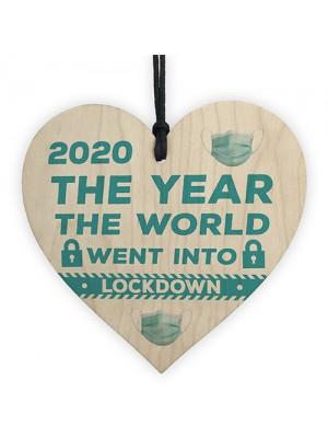 Wooden Heart Christmas Decoration Lockdown Gift Memory