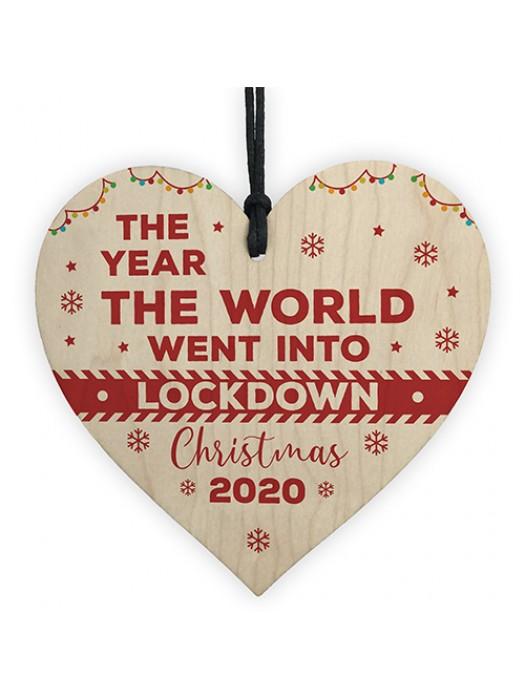 Wooden Christmas Tree Decoration Lockdown Gift Memory