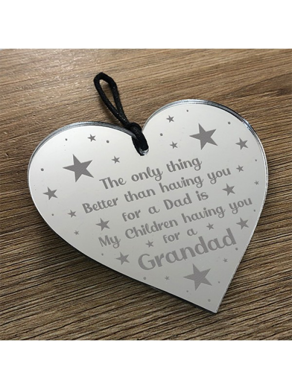 Gift For Grandad Birthday Christmas Engraved Heart Thank You