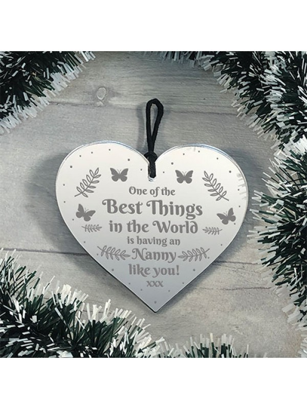 Novelty Gift For Nanny Birthday Christmas Engraved Heart