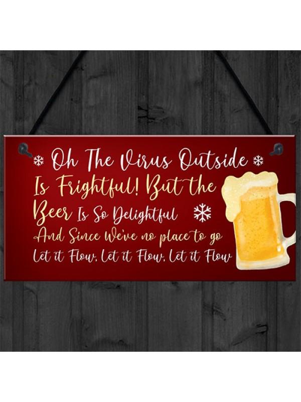 Funny Bar Sign Lockdown Gift Man Cave Shed Home Bar Sign