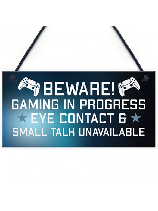 Funny Rude Gaming Sign Christmas Birthday Gift For Son Brother