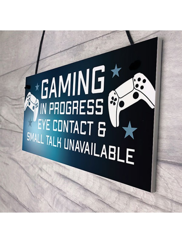 Funny Rude Gaming Sign Gift For Son Brother Christmas Birthday