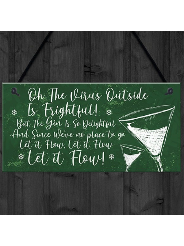 Funny Bar Sign Lockdown Gift Kitchen Garden Gin Bar Sign
