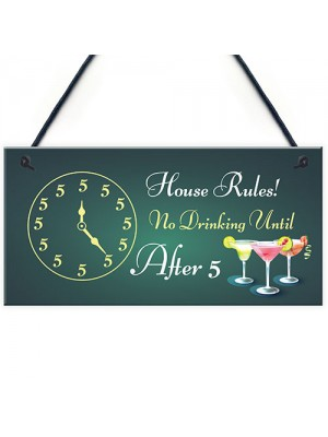 Funny Bar Sign Home Bar Pub Kitchen Hanging Sign Gin Wine Gift