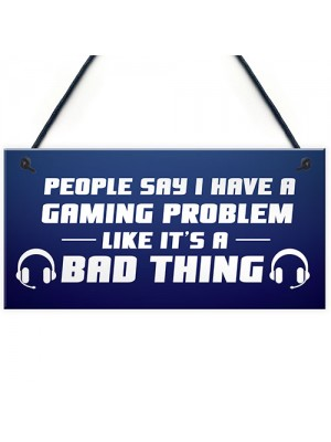 Novelty Gaming Games Room Sign Funny Gift For Brother Son