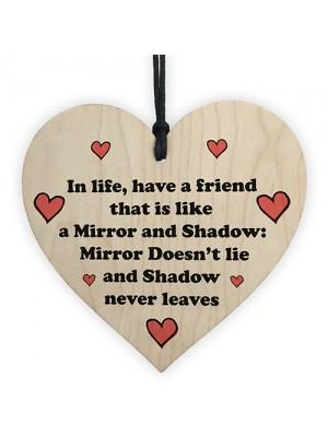 Friendship Gift For Best Friend Christmas Birthday Wood Heart