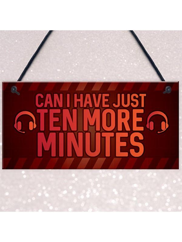 Novelty Sign For Gamer Hanging Games Room Bedroom Sign Gifts