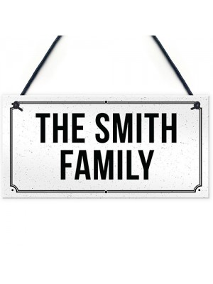 Family Plaque PERSONALISED New Home Gift Home Decor