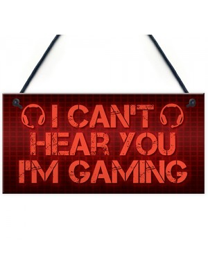 Funny Rude Gaming Sign Man Cave Plaque Boys Bedroom Sign Gift