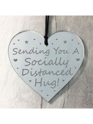 Socially Distanced Hug Gift Engraved Heart Special Gift