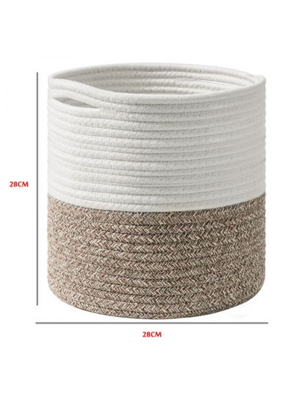 Cotton Rope Storage Basket Indoor Planter Basket