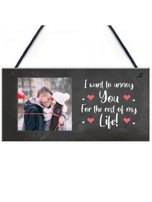 Funny Personalised Photo Plaque Valentines Anniversary Gift