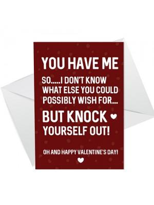 Hilarious Valentines Day Card For Boyfriend Girlfriend Husband