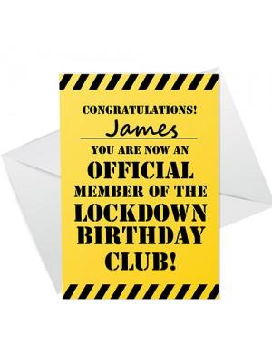 Personalised Lockdown Card For Friend Funny Lockdown Card