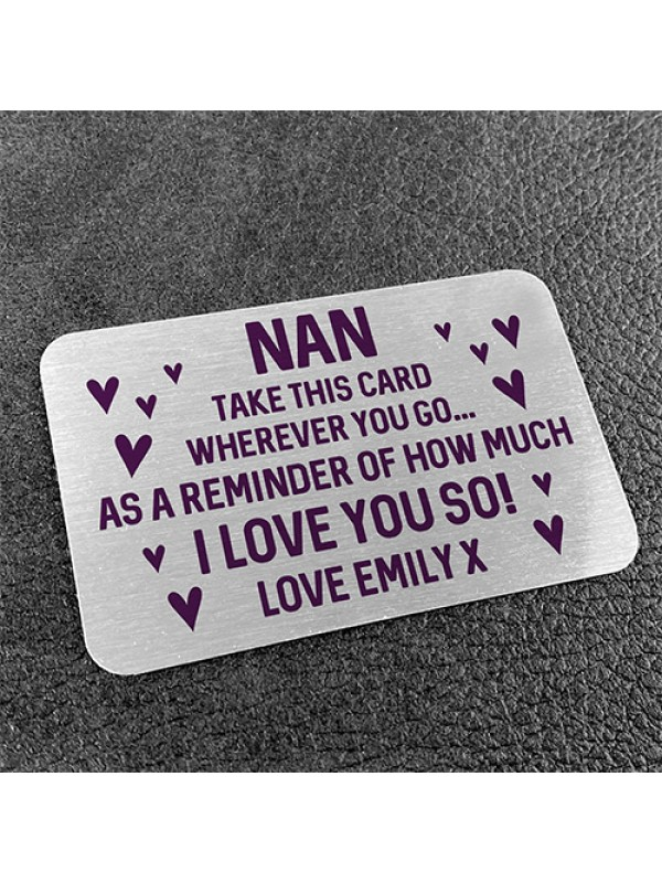 PERSONALISED Gift For Nan From Granddaughter Son Mothers Day