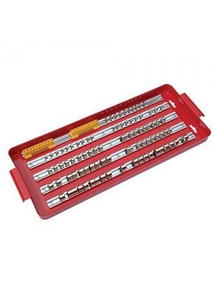 110 Pc Deep Large Socket Rail Bit Holder Rack- 1/4,3/8 & 1/2inch