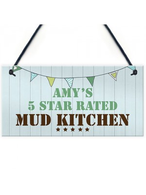 Funny Mud Kitchen Sign Personalised Playhouse Garden Sign