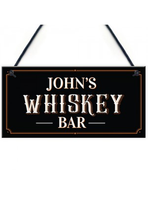 Vintage Personalised Whiskey Bar Sign Home Bar Pub Sign Alcohol