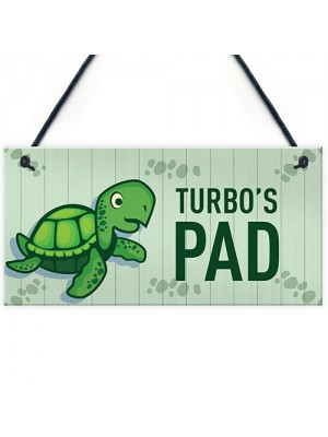 Turtoise Sign For Home PERSONALISED Pet Sign Turtle Sign
