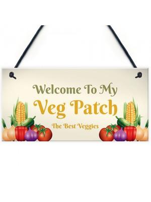 Novelty Vegetable Patch Sign Garden Signs Hanging Garden Shed