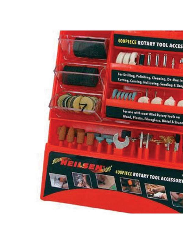 400pc Rotary Tool Accessories Bit Set Kit For Dremel Power Mini