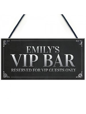 VIP Sign Personalised Man Cave Home Bar Sign BBQ Beer Garden