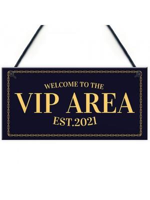 VIP AREA Home Bar Sign Novelty Beer Garden Bar Signs Man Cave