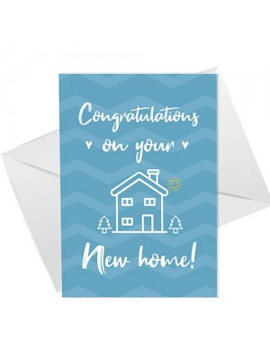 Congratulations On Your New Home Card For Couple Friend Family