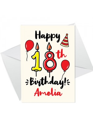 18th Birthday Card For Daughter Son Personalised Male Female
