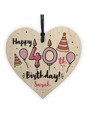 40th Birthday Gift For Sister Mum Best Friend Personalised