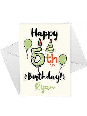 5th Birthday Card Boy Girl Personalised Card For Son Daughter