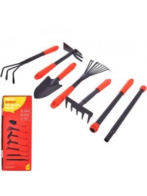 7 Piece Gardening Hand Tool Set Rake Fork Hoe Trowel Tools