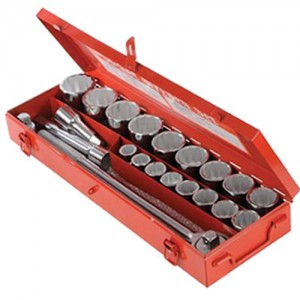 "3/4"" Drive Metric Socket Set (19-50mm) - 21 Piece"
