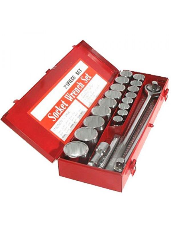 "3/4"" Drive Metric Socket Set (19-50mm) - 21 Piece"