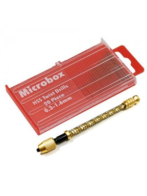 Archimedes Twist Drill And 20Pc HSS Micro Drill Bits