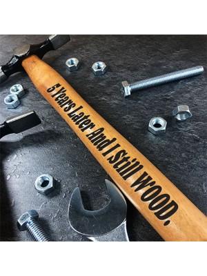 5th Anniversary Gift For Boyfriend Husband Engraved Hammer