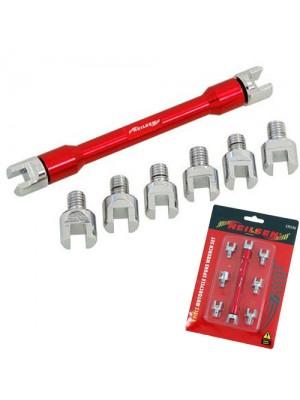 9 Piece Motorcycle Spoke Wrench Set