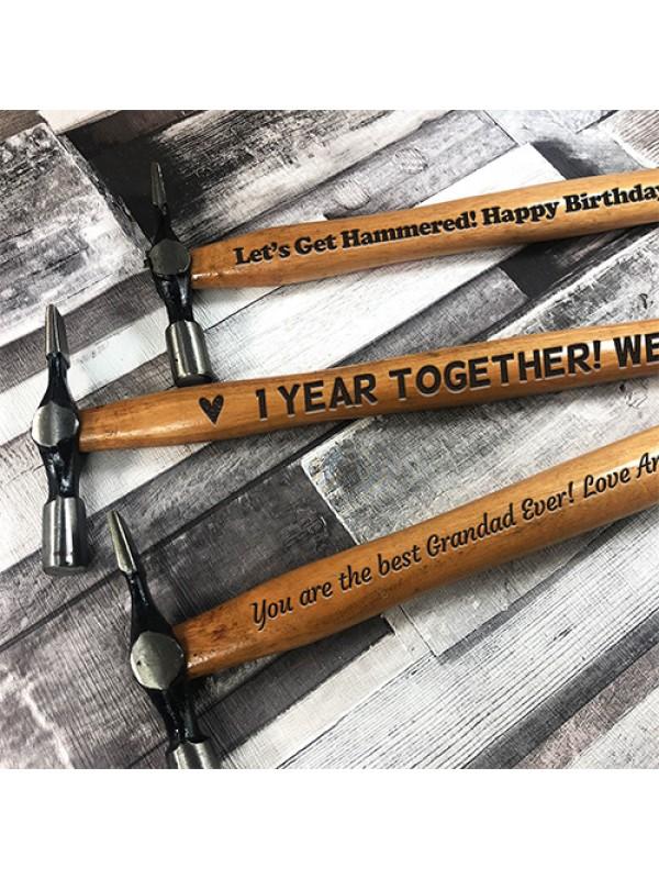 1 Year Anniversary Gift For Boyfriend Husband Engraved Hammer