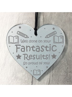 Congratulations Gift FANTASTIC Results Engraved Heart Daughter