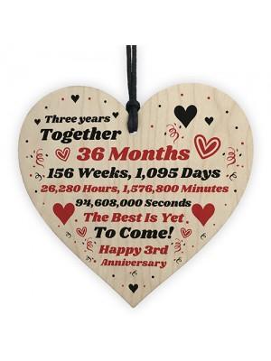 3rd Anniversary Gift Husband Wife Wedding Three Years Mr & Mrs