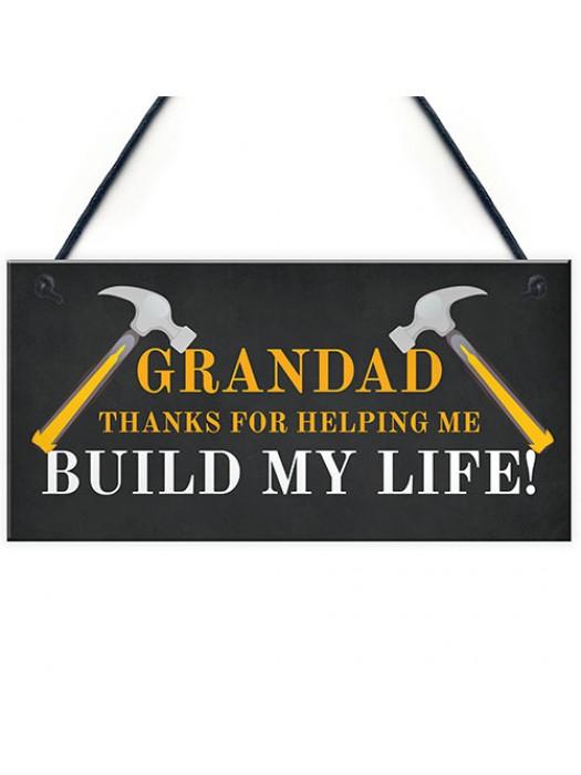 Grandad Thank You Novelty Hanging Sign Christmas Birthday Gift