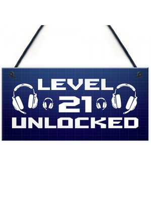 21st Birthday Gifts For Gamer Funny Gaming Sign For Games Room