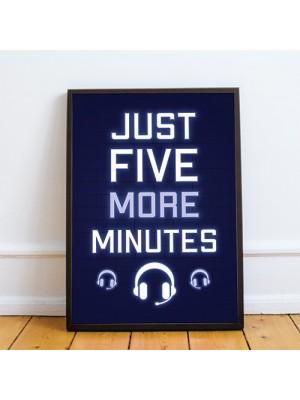 Blue Gaming Poster Framed Gift For Boys Bedroom Games Room