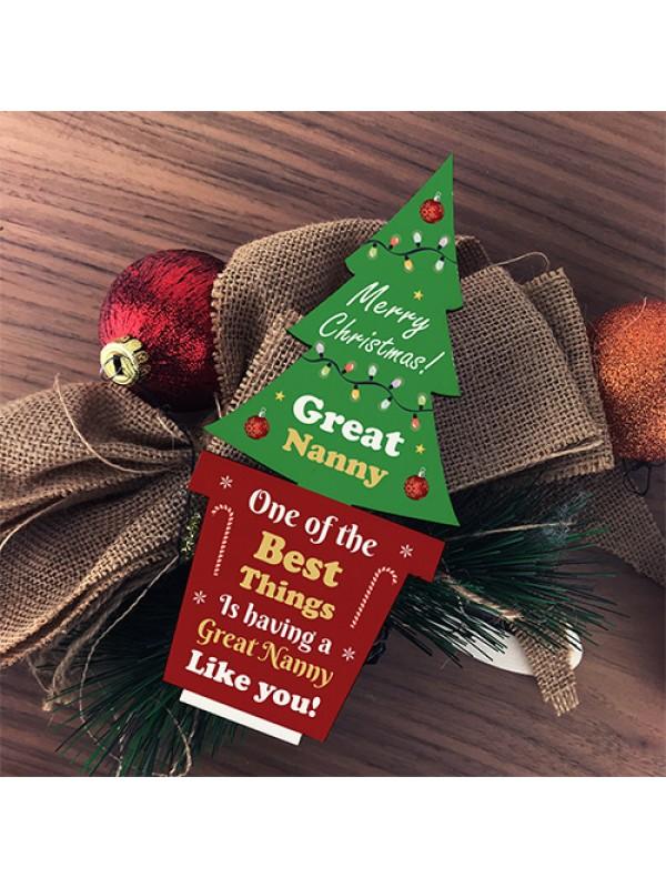 Christmas Gift For Great Nanny Standing Christmas Tree Gift