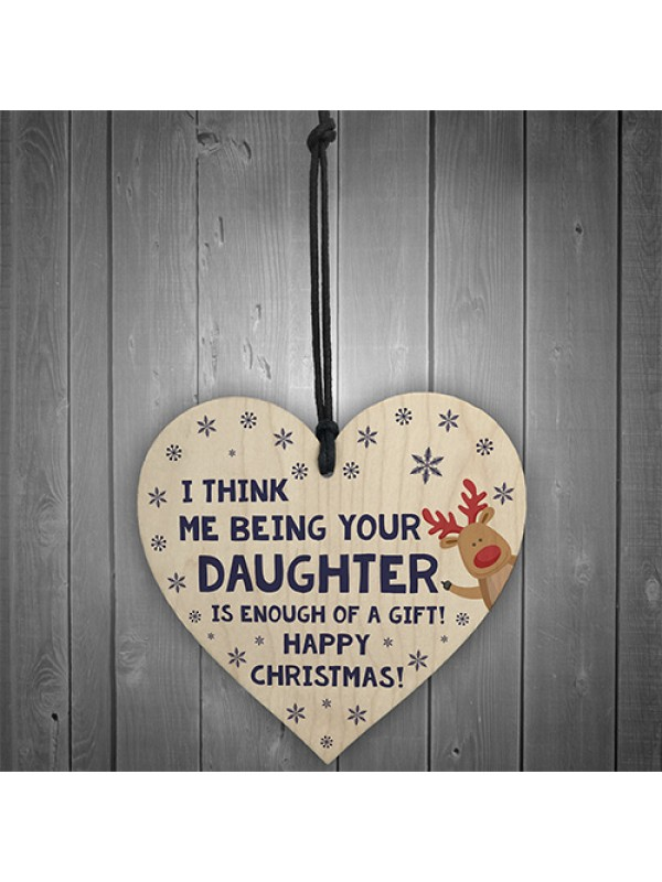 FUNNY Christmas Gift For Dad Heart Rude Gift From Daughter
